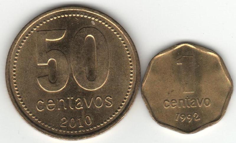1 Centavo. Argentina. 1992  COMPARACION