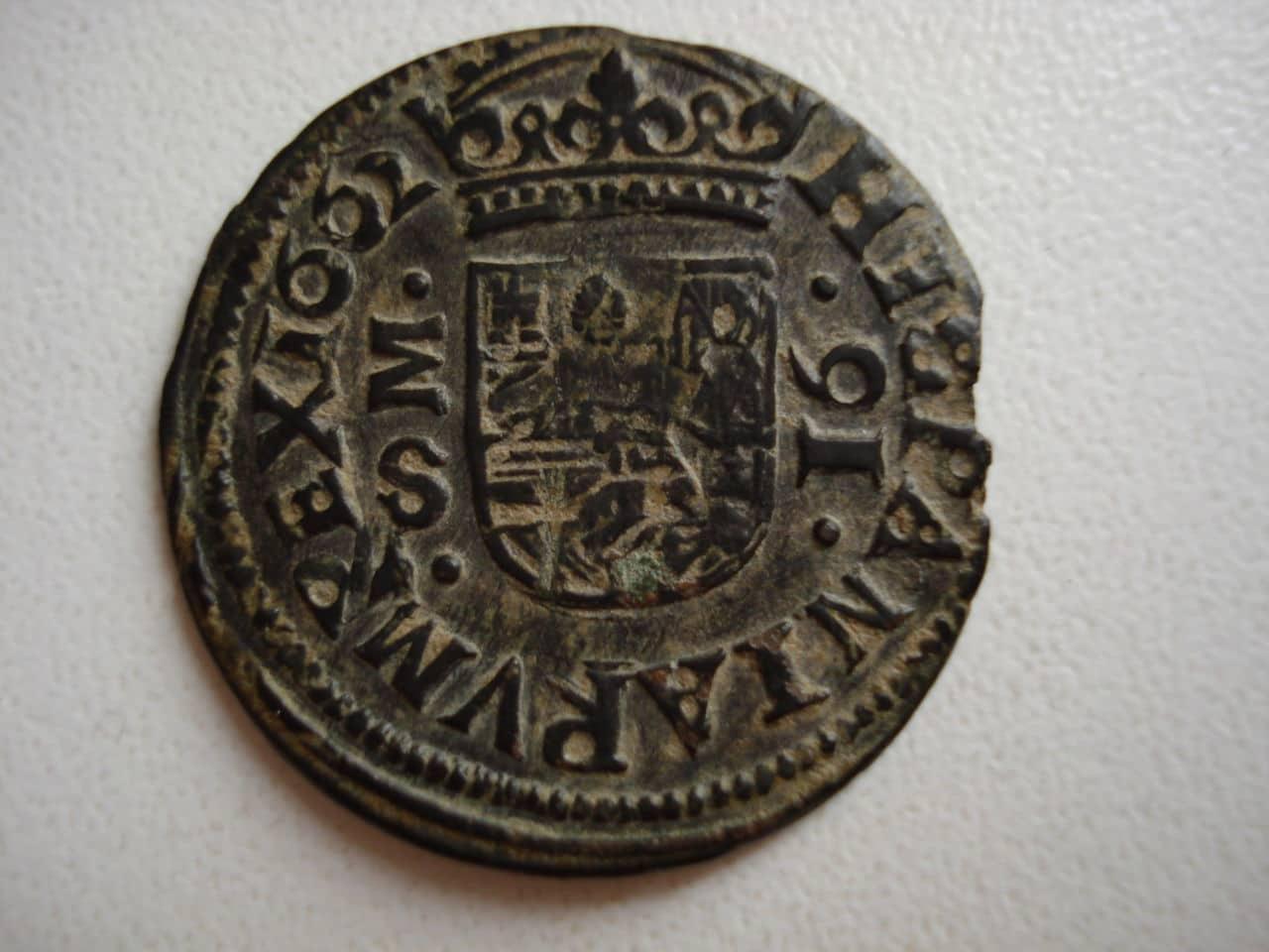 16 maravedís de Felipe IV, 1662 Madrid. Monedas_015
