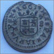 8 maravedis 1663. Felipe IV. Trujillo. 788126701
