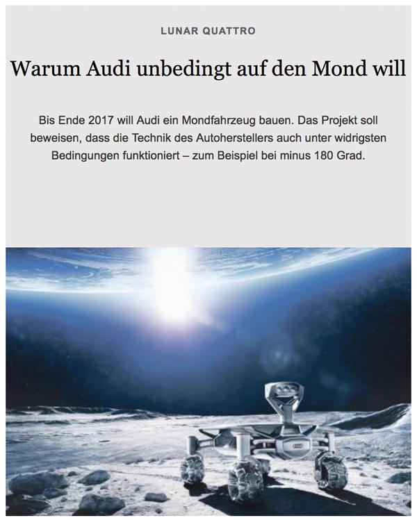 Die Erde, in der wir leben und der Raum, der die Welt ist - Seite 26 Audi