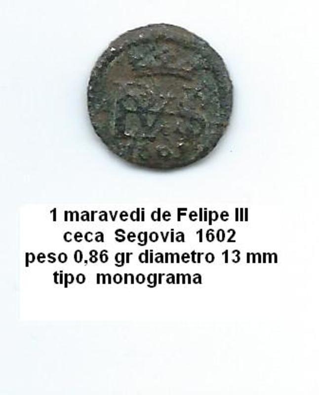 1 maravedí de Felipe III año 1602 Image