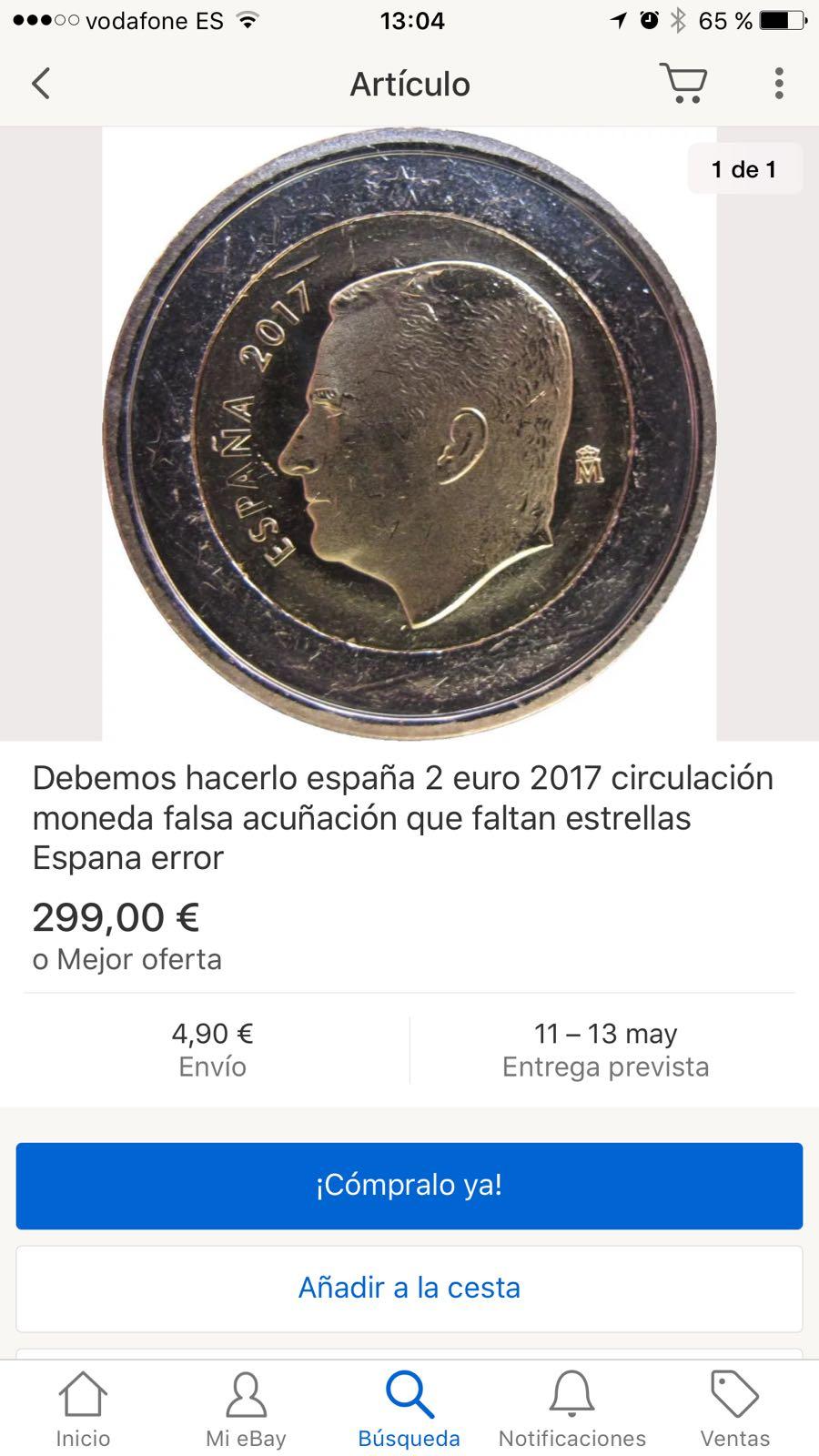 2 euros España 2017 error nuevo IMG-20170507-_WA0022
