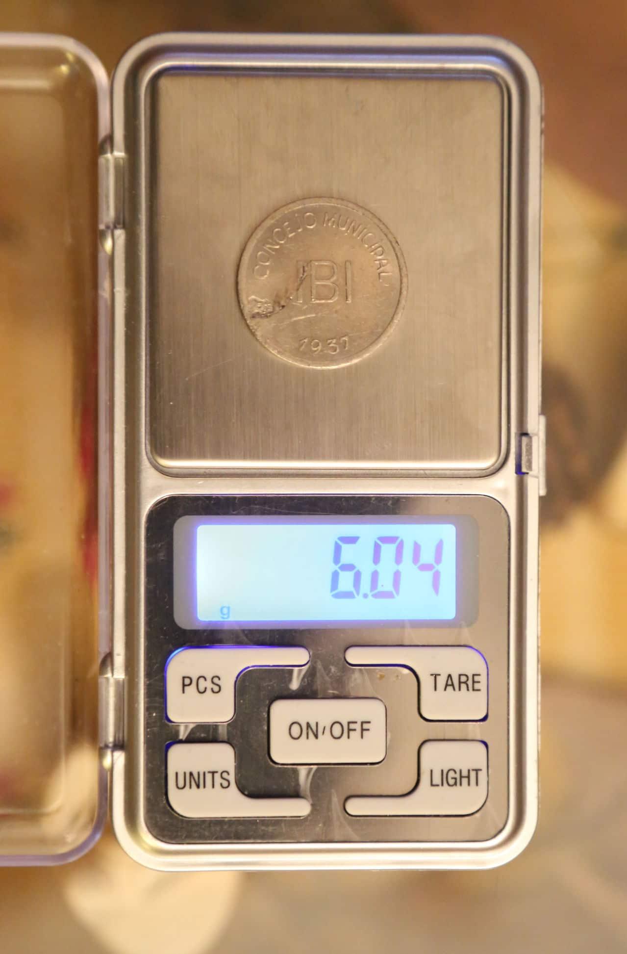 Pruebas de las monedas de 1 peseta de Ibi en níquel OF7_A0719