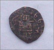 4 maravedís a martillo de Trujillo 1661. 102_2199