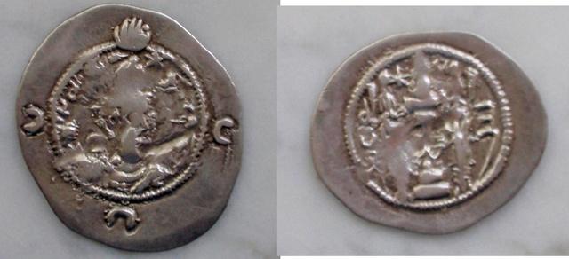 Dracma de Cosroes I. Eran-khvarrah-Shapur. Año ¿35?. Ampalab dedit Sasanida_ampalab