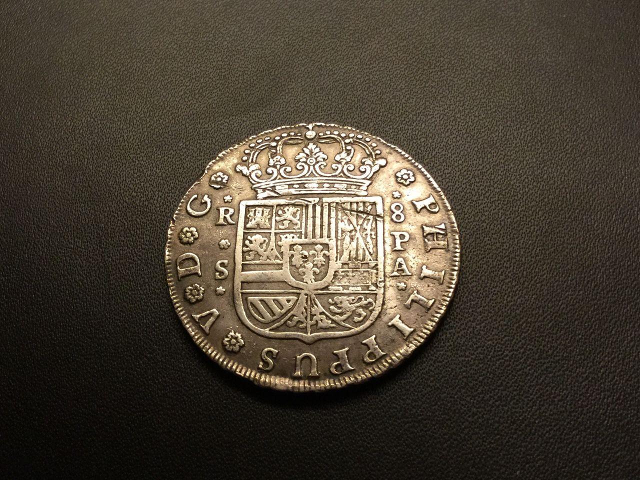 8 reales 1732. Felipe V. Sevilla Image