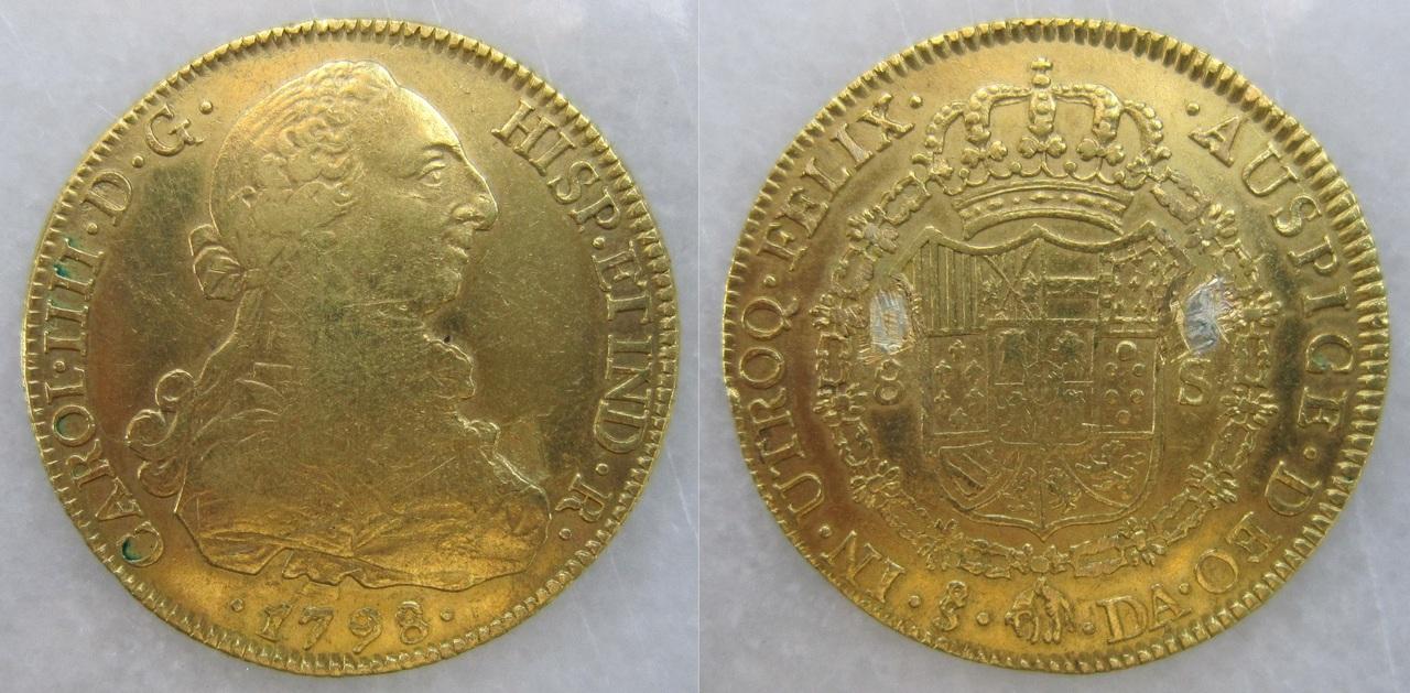 8 Escudos 1798. Carlos IV. Santiago de Chile. 8_escudos_Santiago_de_Chile_1798_Carlos_IV_bust