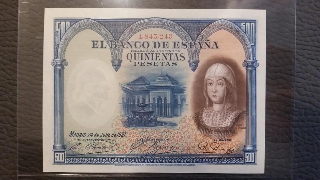 Colección de billetes españoles, sin serie o serie A de Sefcor pendientes de graduar 20161217_113651