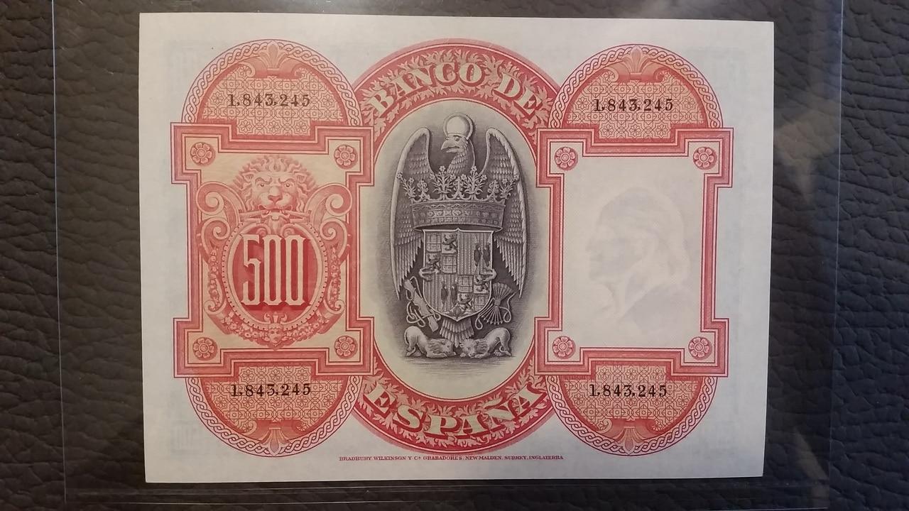 Colección de billetes españoles, sin serie o serie A de Sefcor pendientes de graduar 20161217_113706