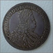 Thaler 1716 Carloos VI ,Archiduque Hall de Tirol  Image