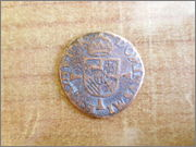 Double courte de 4 mites de Felipe II (c.1571-1578). Amberes. P1140989
