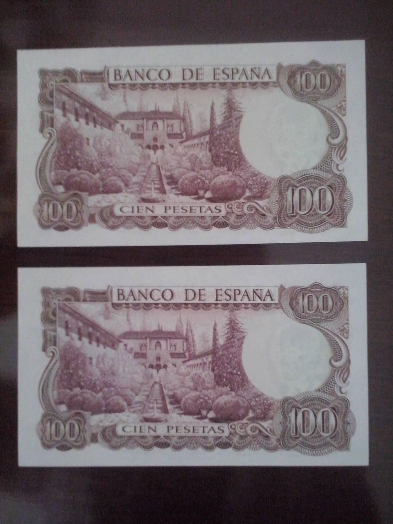 100 Pesetas 1970 (Dos Parejas) CAM00116