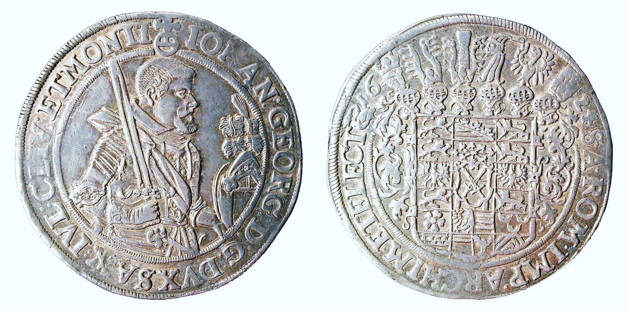 1 Thaler de Sajonia de 1624, Johann Georg I ALE1624