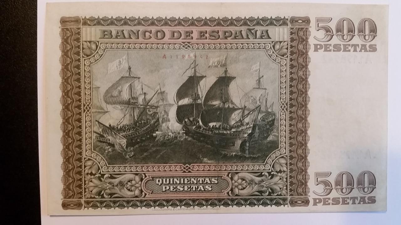 Colección de billetes españoles, sin serie o serie A de Sefcor pendientes de graduar 20161217_123837
