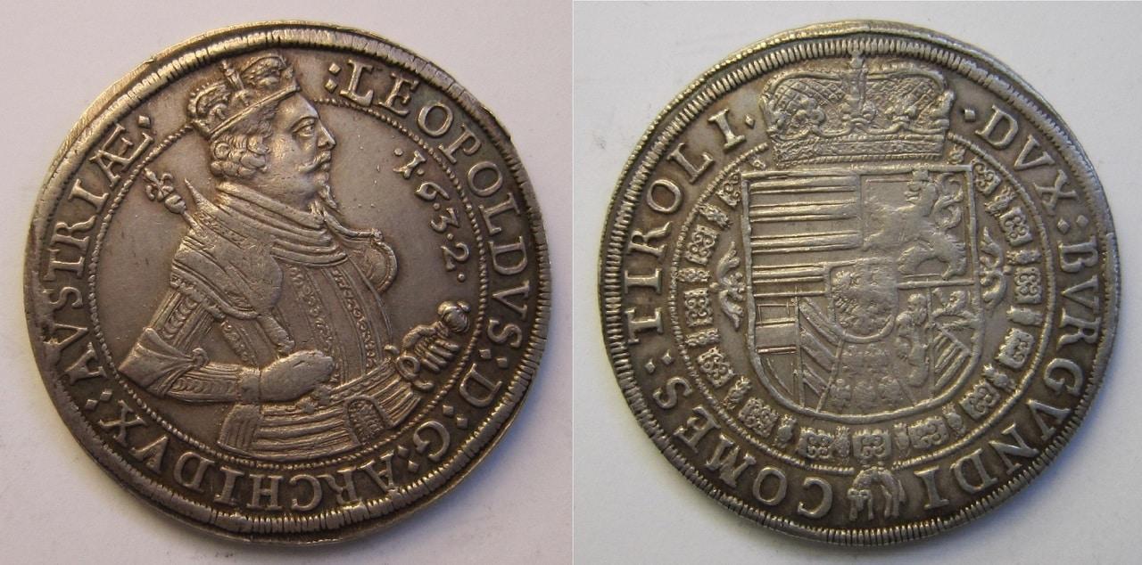 1 Taler. Austria 1632 1_Thaler_Leopoldo_1632