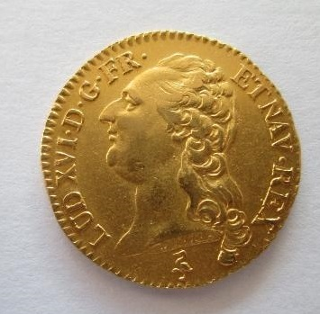 PRECIOSA MONEDA de oro de Luis XVI.Muy bonita. Luis_XVi