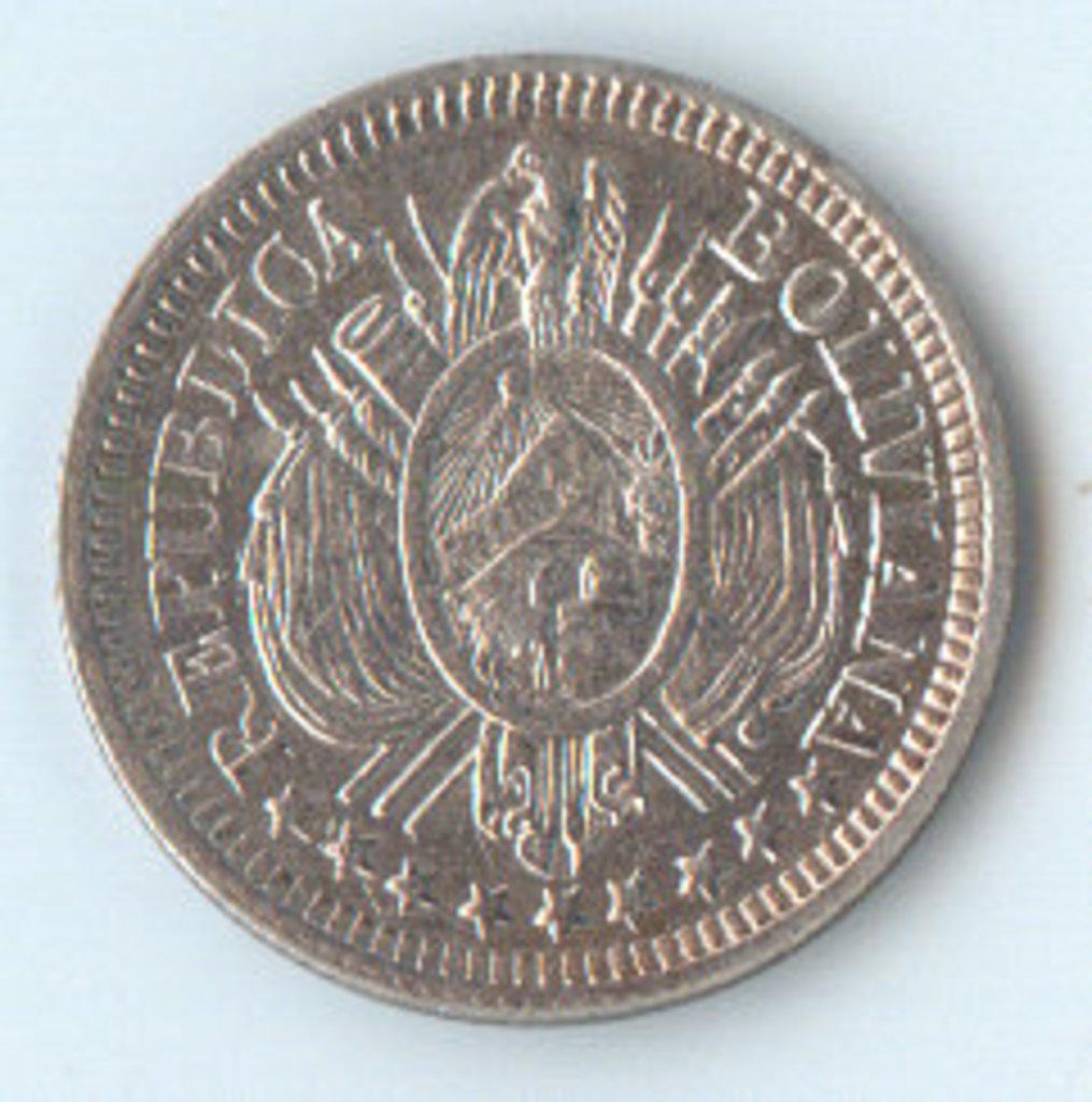 10 Centavos. Republica de Bolivia. 1885. Potosi Dsds