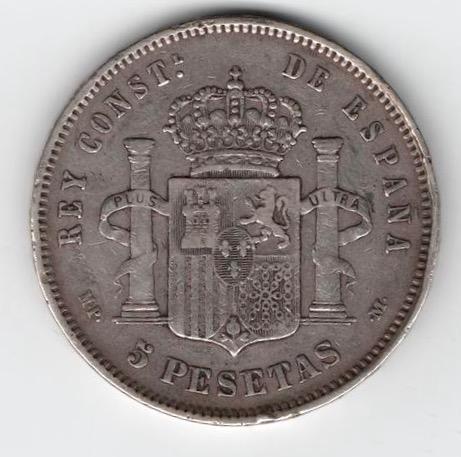 5 pesetas de 1889. Alfonso XIII IMG_3401