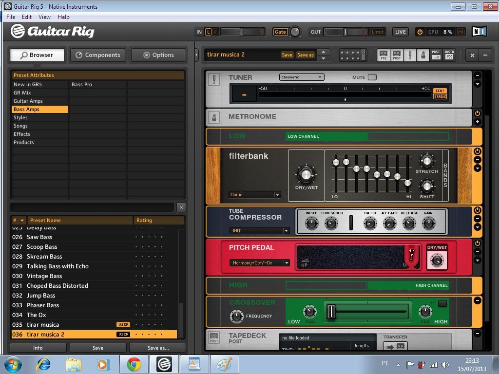Como tirar musica de ouvido no Contrabaixo usando o Guitar Rig 5 Image