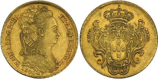 6 cuartos 1841 Isabel II Image