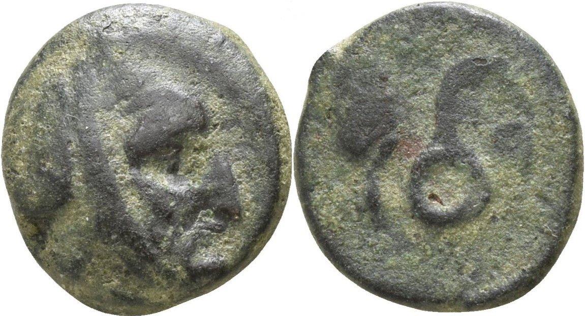 AE Bronce Jonia Æ 10 Autofradates. Satrapa de Sparda (Lidia y Jonia). ca 380-350 a.C. , acuñado durante la ocupación Aquemenida 235