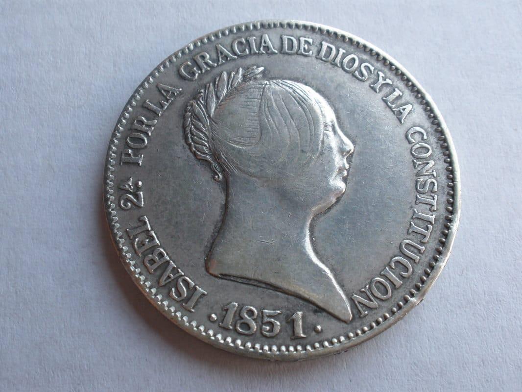20 reales Isabel II. 1851 Madrid P1010179
