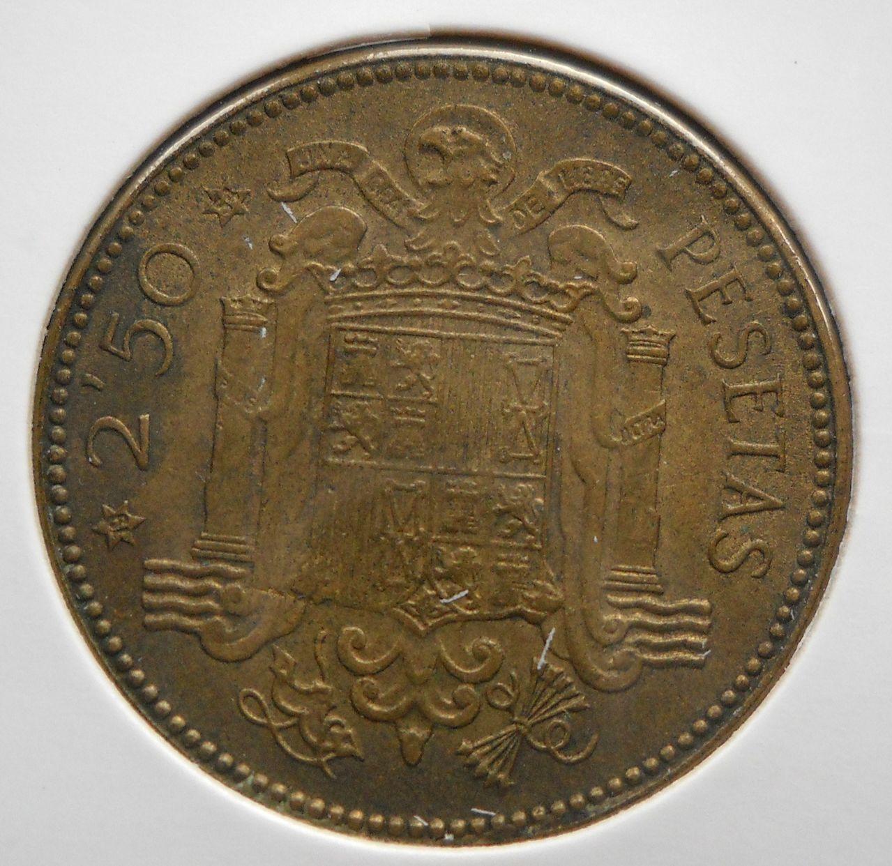 2.5 pesetas 1953 *54. Estado Español. DSCN0114