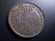 5 Céntimos de Real 1864. Isabel II. Segovia DSCN1162
