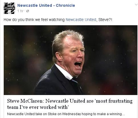 Stoke - Newcastle Steve