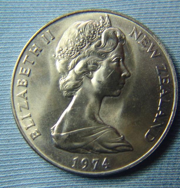 1 dolar de Nueva Zelanda de 1974.Commonwealth Games. Image