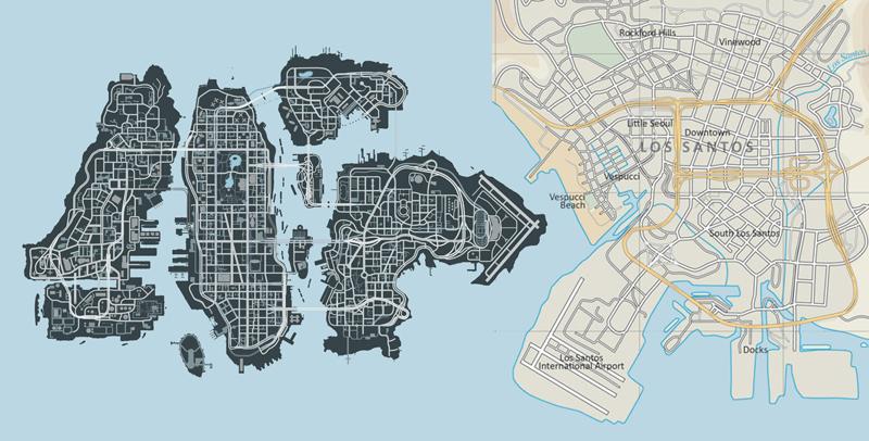 Mapa oficial de GTA V Scale2