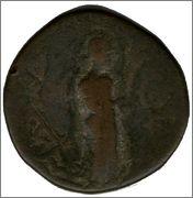 Tetradracma de cobre o Unit de Kanishka I.  Smg_297b