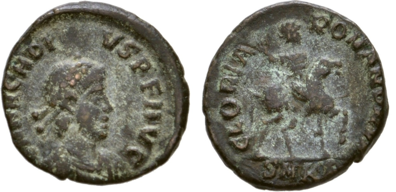 ½ Decargiro de Arcadio?. GLORIA ROMANORVM. Antioquía AE3_Arcadio