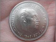 5 pesetas 1949*50 Estado español DSC04443