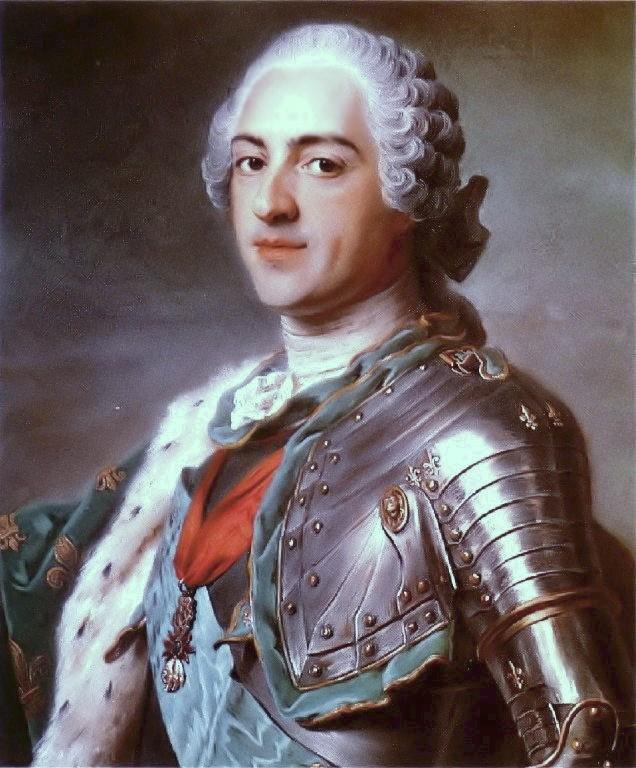 Jetón de Luis XV de Francia. Estados de Bretaña. Dedicado a Terrón. Louis_XV_by_Maurice_Quentin_de_La_Tour