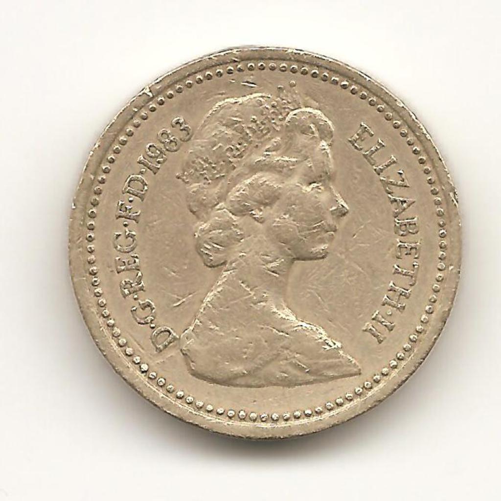 1 libra reino unido año 1983 Image
