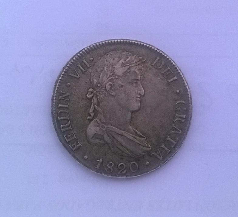 8 reales 1820 Fernando VII, Potosí WP_20141122_012