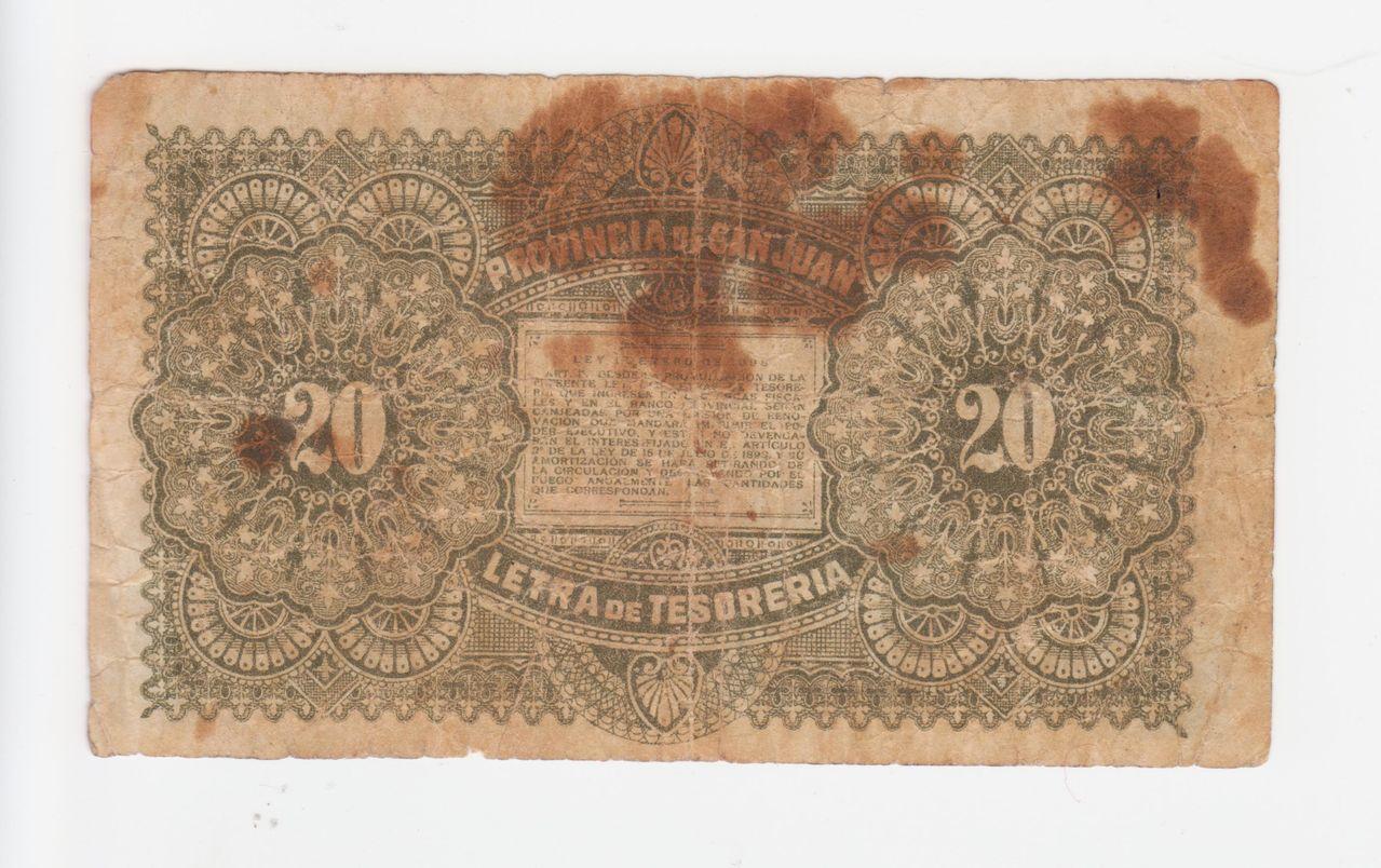 20 centavos 1899, provincia de San Juan (Argentina) Provincia_de_san_juan_1899_001