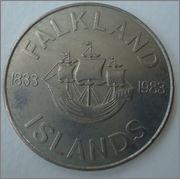 50 pence 1983 Falkland Islands(Islas Malvinas) Image
