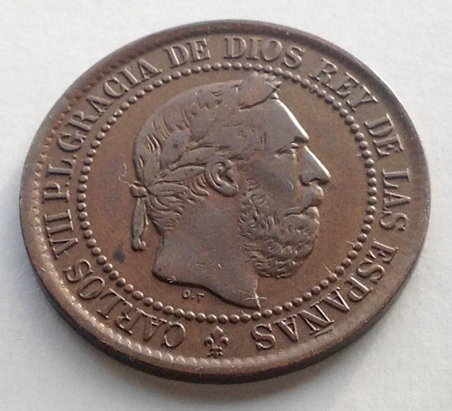 5 céntimos 1875. Carlos VII. Oñate IMG_3424