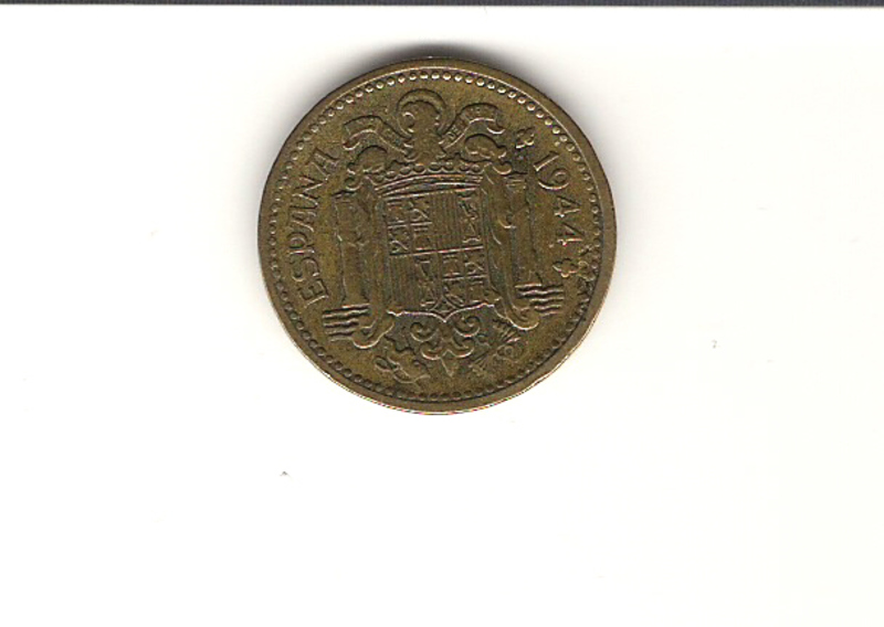 "1 Peseta 1944 ""La del 1"". Francisco Franco. Estado Español. 1_PST_1"