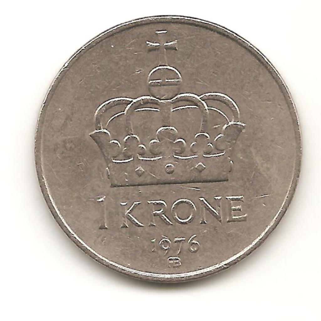 1 krone. Noruega. 1976  Image