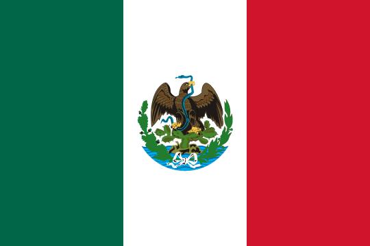 2 Pesos. México. 1945  Flag_of_Mexico_1881