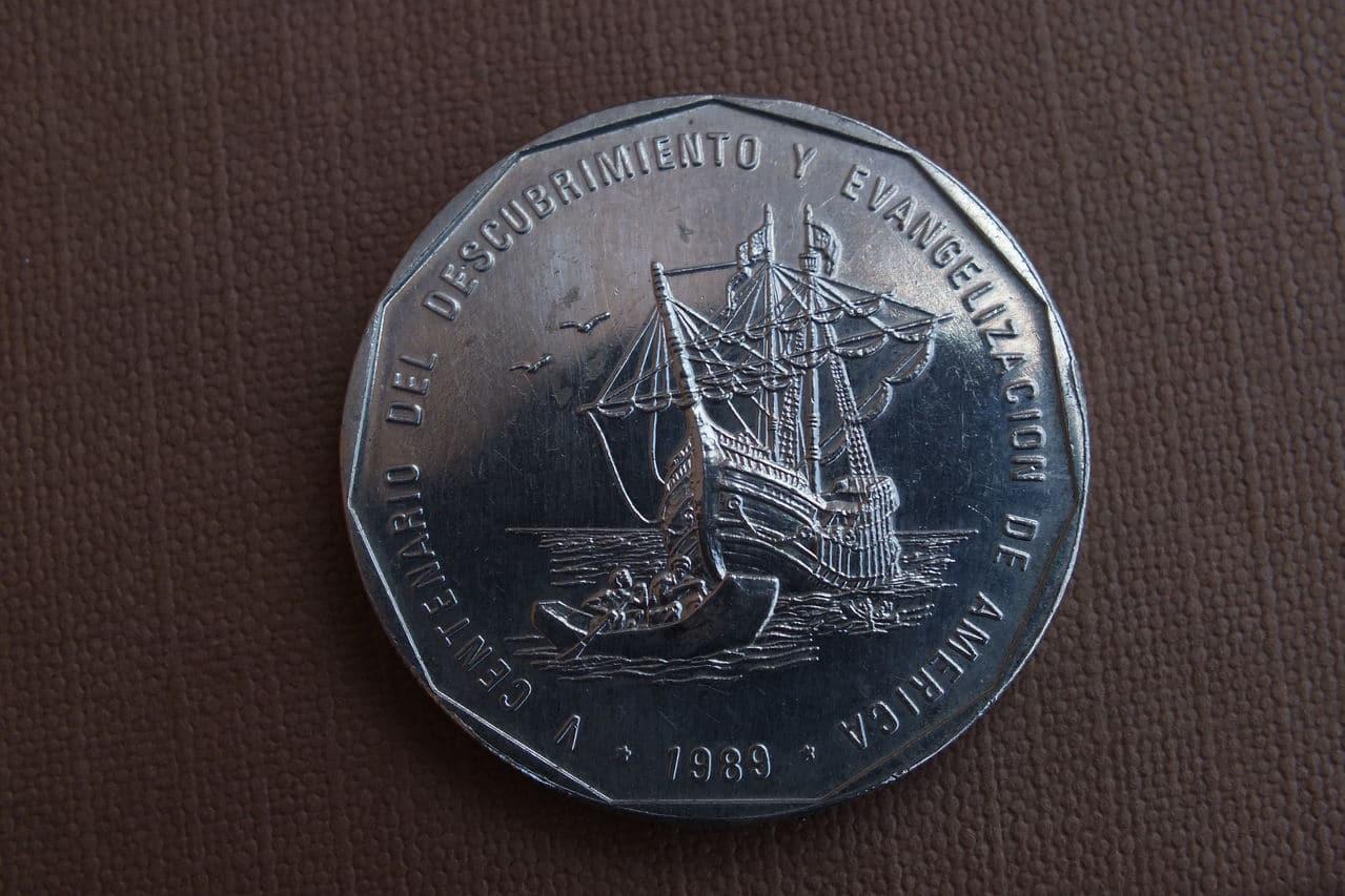 1 Peso. República Dominicana. 1989. Ottawa DSCF1443