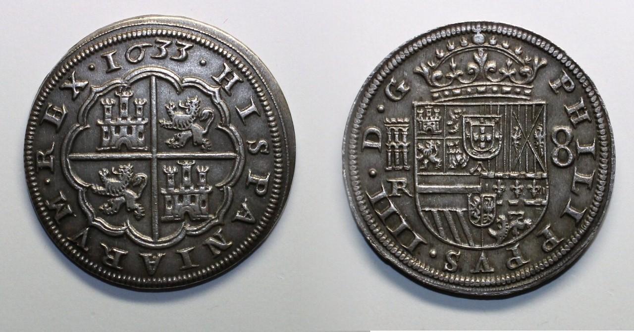 8 reales 1633. Felipe IV. Real Ingenio de Segovia. Segovia