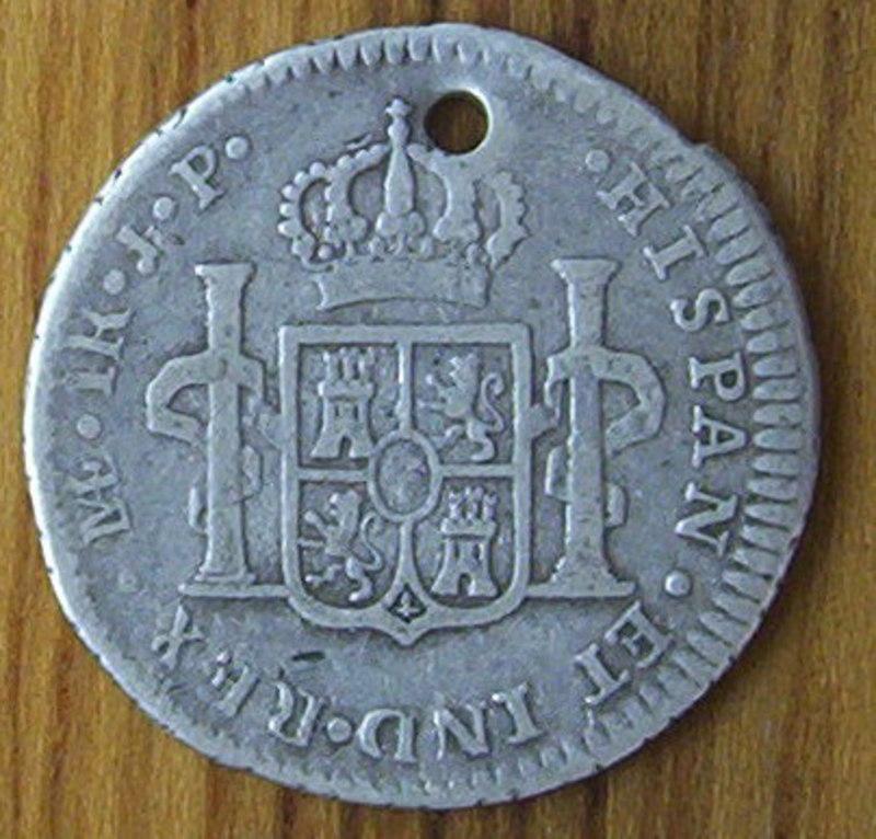 1 Real 1819 Fernando VII- Lima -(Moneda Perforada)  REVERSO_PERU