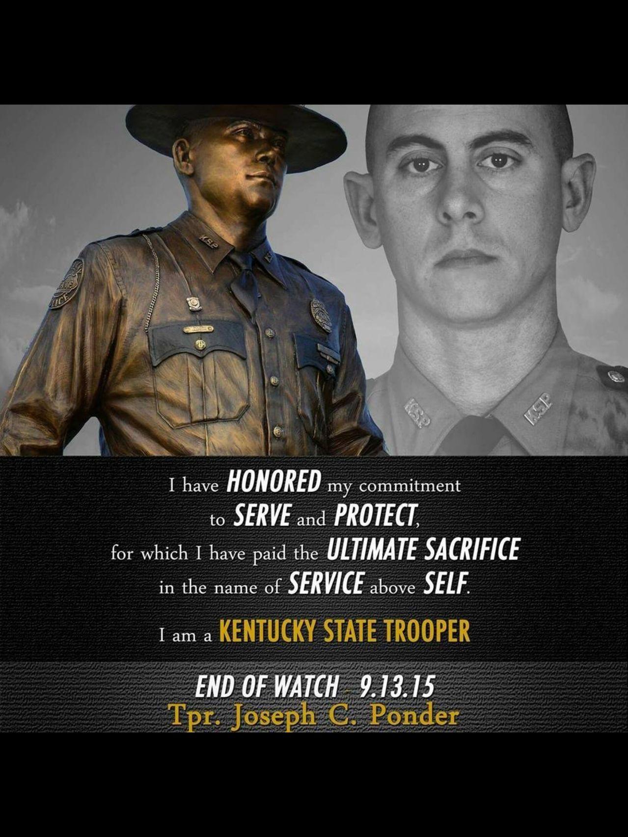 Trooper Ponder   KSP 954 Post 1 Mayfield.   Image