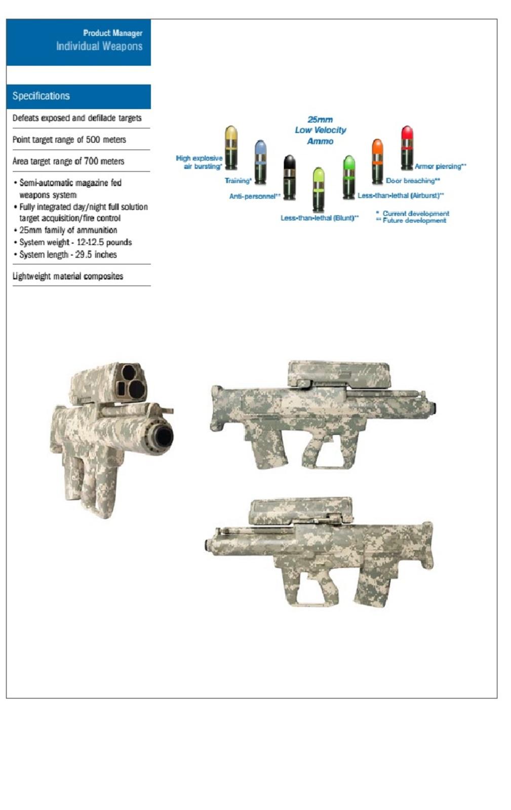 infanteria - FUSIL XM-25 DE INFANTERIA TACTICO  (COUNTER DEFILADE TARGET ENGAGEMENT SYSTEM)  XM_25_COUNTERDEFILADEENGAGEMENTSYSTEM