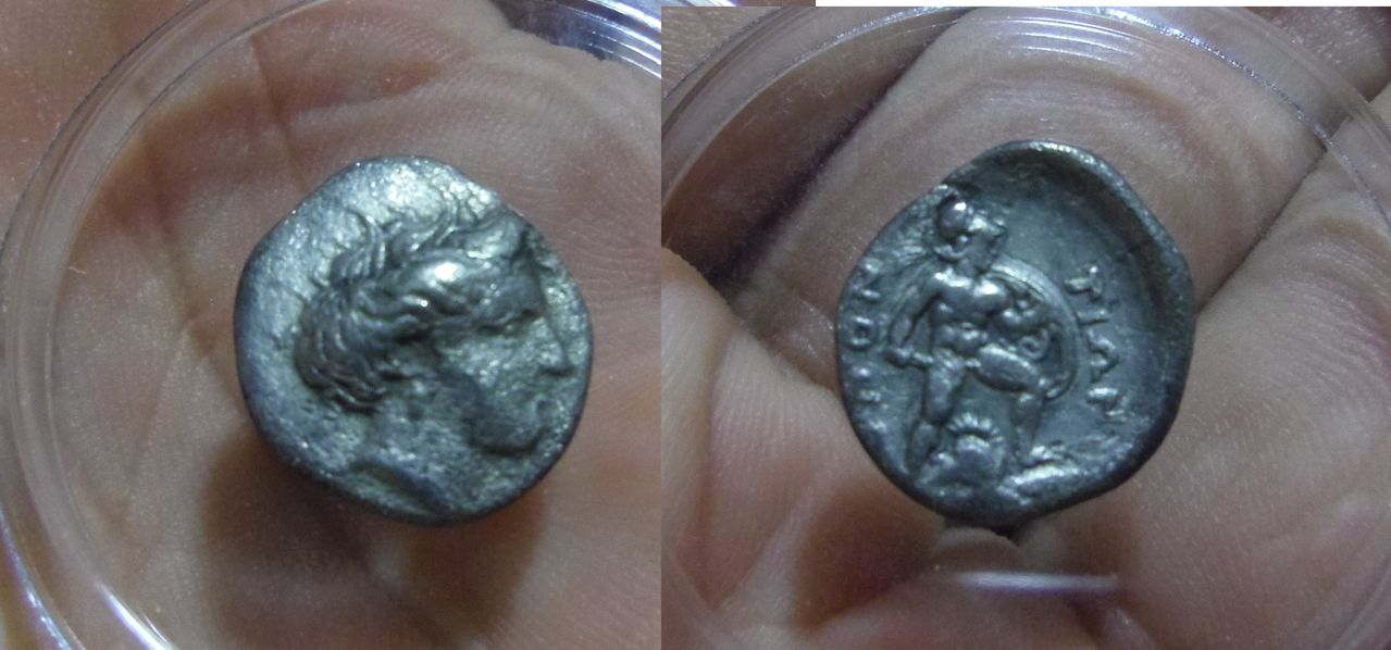 Hemidracma. Lokris Epiknemediano y Locris Opuntií-Oponte. 369-338 A.C. IMGP4197