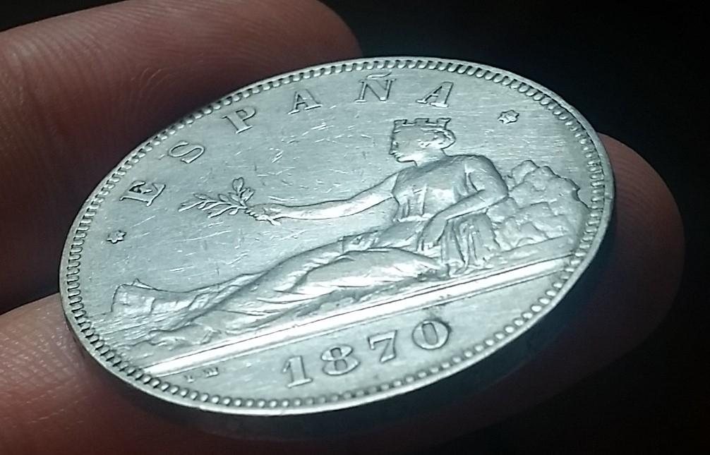 GOBIERNO PROVISIONAL. 5 pesetas. 1870*18-70. SMV 20160402_175801